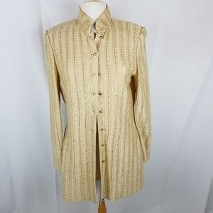 St. John Evening gold long sweater